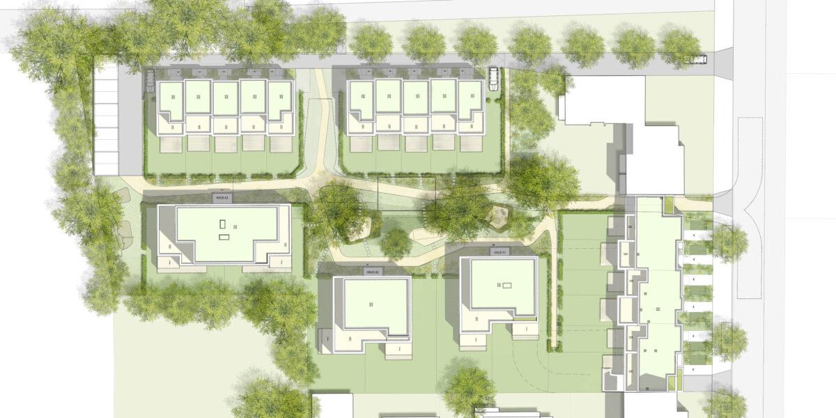 Plan des Wohnkomplex in der Charlottenburger Straße