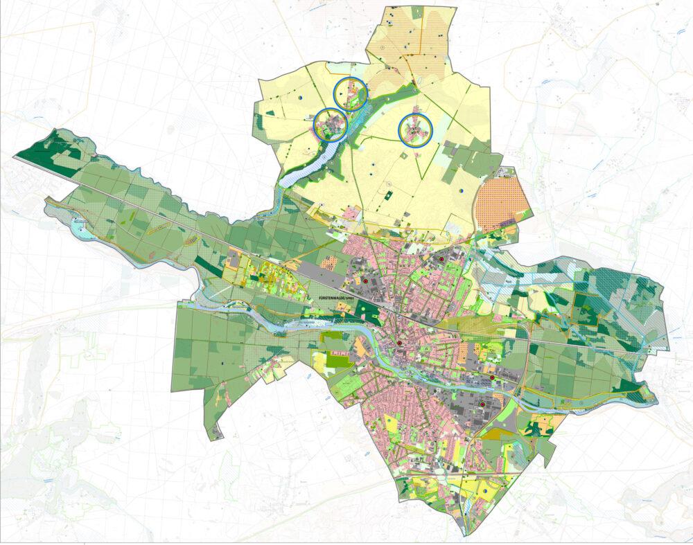 Entwicklungskonzeptplan des Landschaftsplan Fürstenwalde