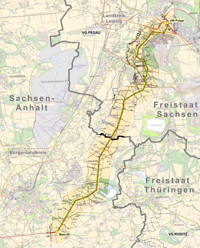 Karte der Trasse