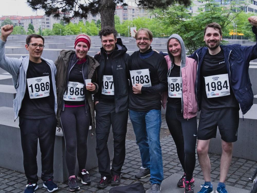 Das Team beim Firmenlauf 2019