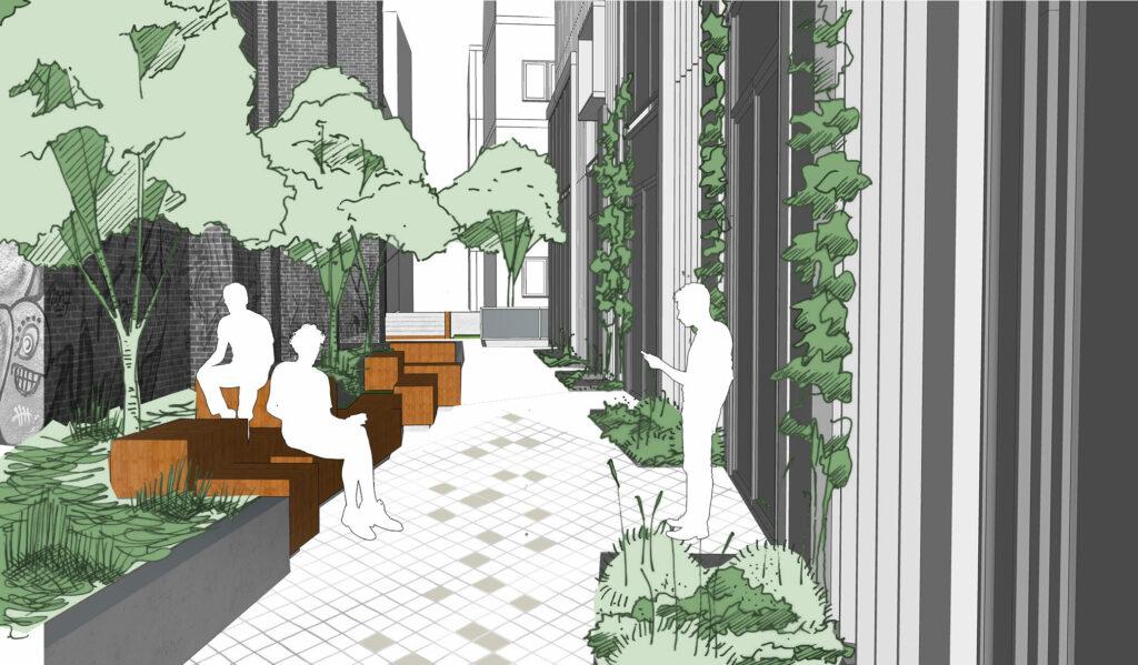 Schönhauser Allee 9 Visualisierung Außenbereich
