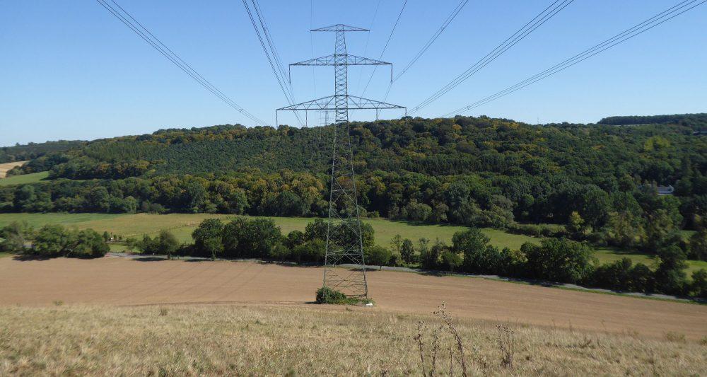 "380-kV-power line Pulgar-Vieselbach crossing the ""Weiße Elster"""