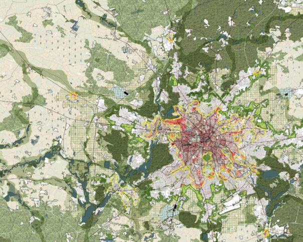 Konzeptplan zum Wettbewerb Berlin-Brandenburg 2070