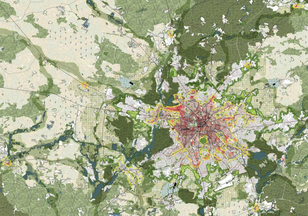 Master plan of Berlin-brandenburg 2070