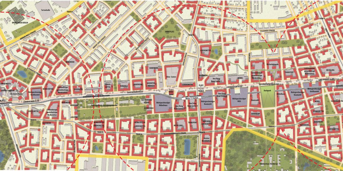 Plan of Landsberger Allee, Berlin