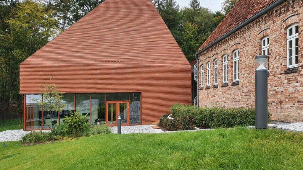 Blick auf den Museumsanbau