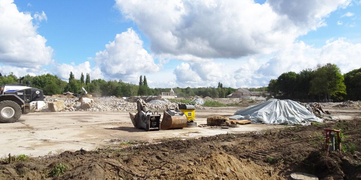Fortschritt der Abrissmaßnahmen in September 2020