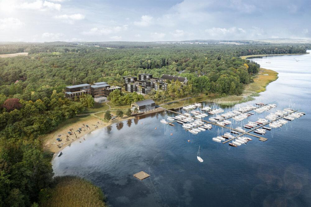 Areal View of the Marina Resort Bad Saarow