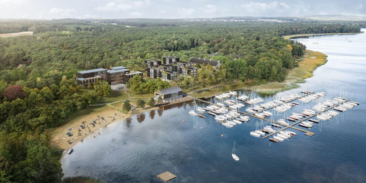 Visualisation of the Marina Resort Bad Saarow
