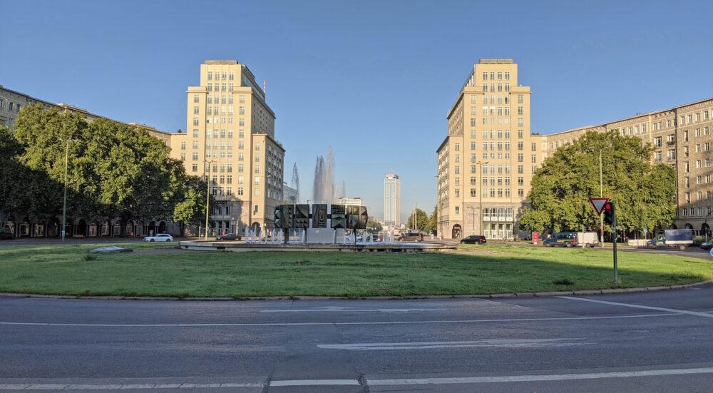 Friedrichshain West, View over Strausberger Platz